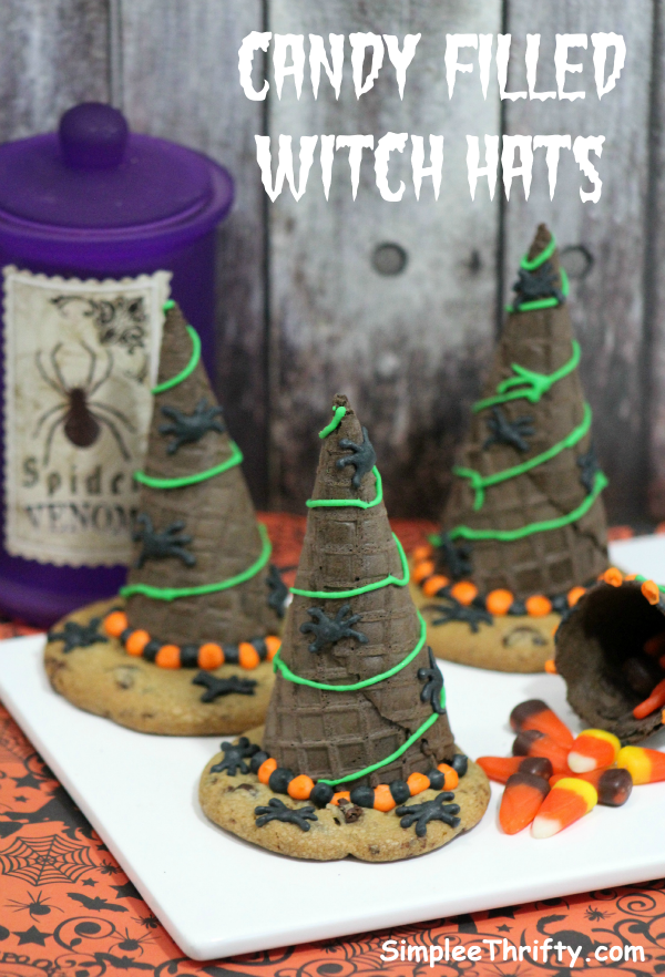 Candy Filled Witch Hat Favors
