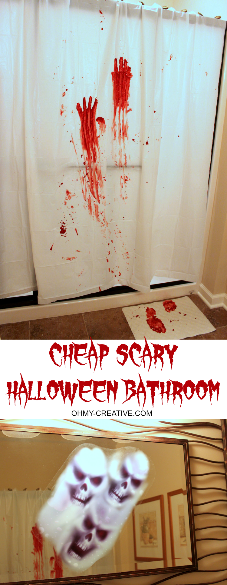 Scary halloween party bathroom oh my creative for Halloween bathroom ideas