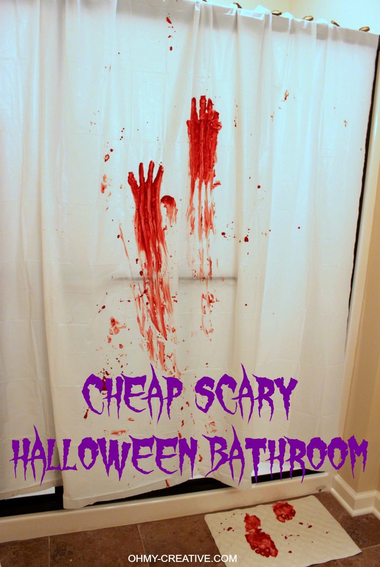 All It Takes To Make This Cheap And Scary Halloween Party Bathroom Decor Is  A Trip