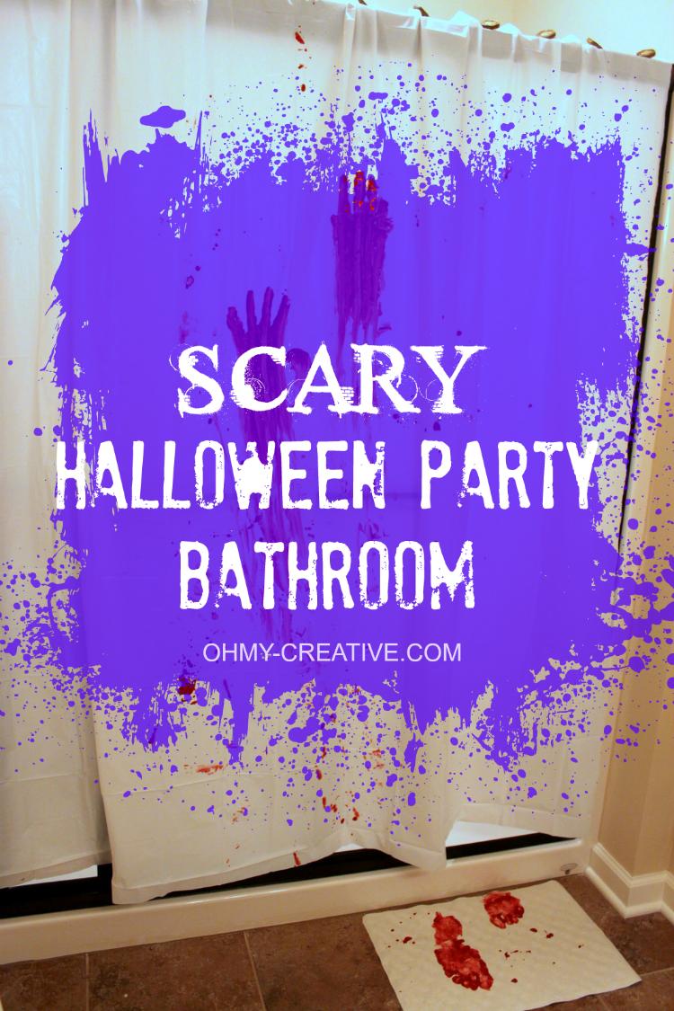 Scary Halloween Party Bathroom