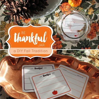 DIY Be Thankful Jar