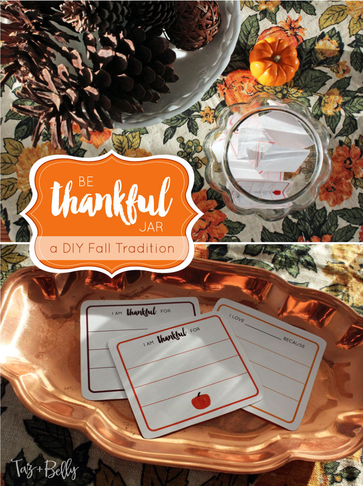 DIY Be Thankful Jar
