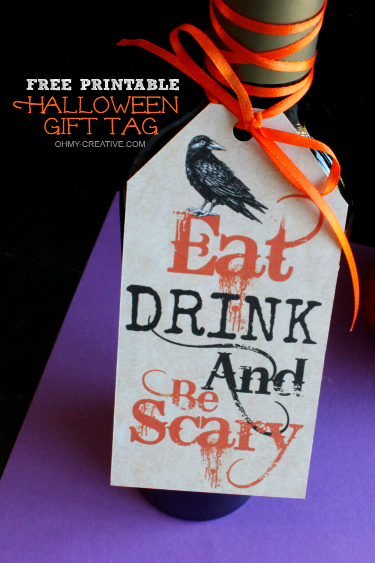 Eat drink and be scary free printable halloween gift tag a perfect halloween hostess gift head off to the halloween party with this eat drink negle Image collections