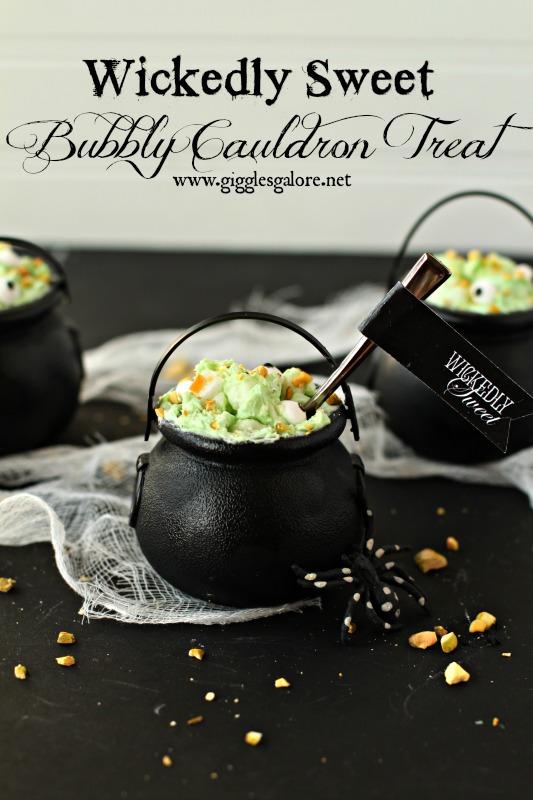 Wickedly Sweet Bubbly Cauldron Treats