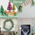 I love the vintage…the homemade…the things that bring holiday charm to the home. Here are a few lovely charming homemade Christmas decorations I adore! | OHMY-CREATIVE.COM