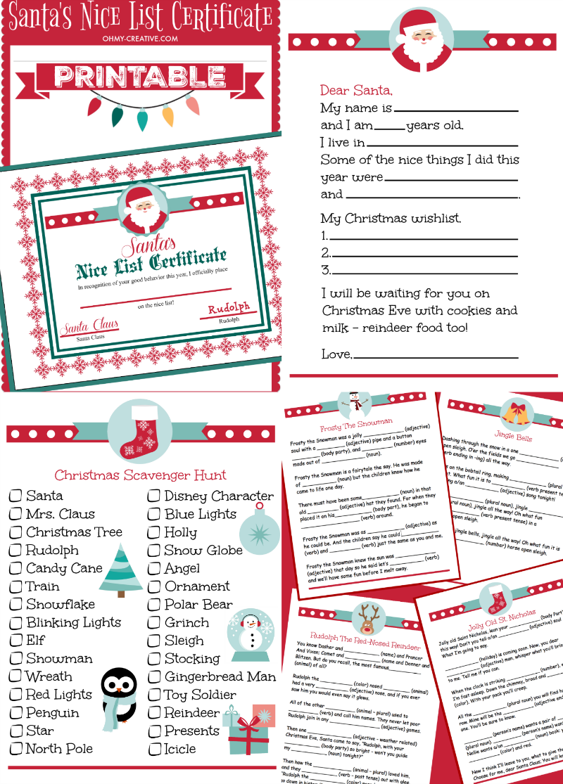 Adorable Christmas Printables For Kids. Keep The Kids Busy With These  Christmas Activites And Games ...  Kids Christmas List Template