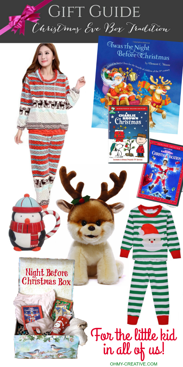 From toddlers to teens this Christmas Eve Tradition is so much fun! Here is a Holiday Gift Guide to fill your Night Before Christmas Box as the family awaits Santa's arrival - for the kid in all of us! | OHMY-CREATIVE.COM