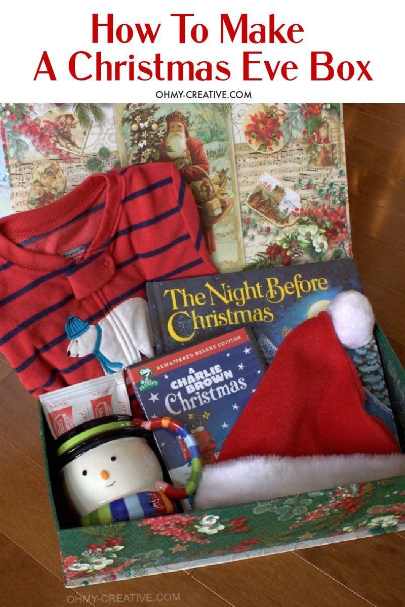 How to Create the Best Christmas Eve Box! Adorable ideas to fill your child's Christmas Eve Box and build the excitement of Santa's arrival!