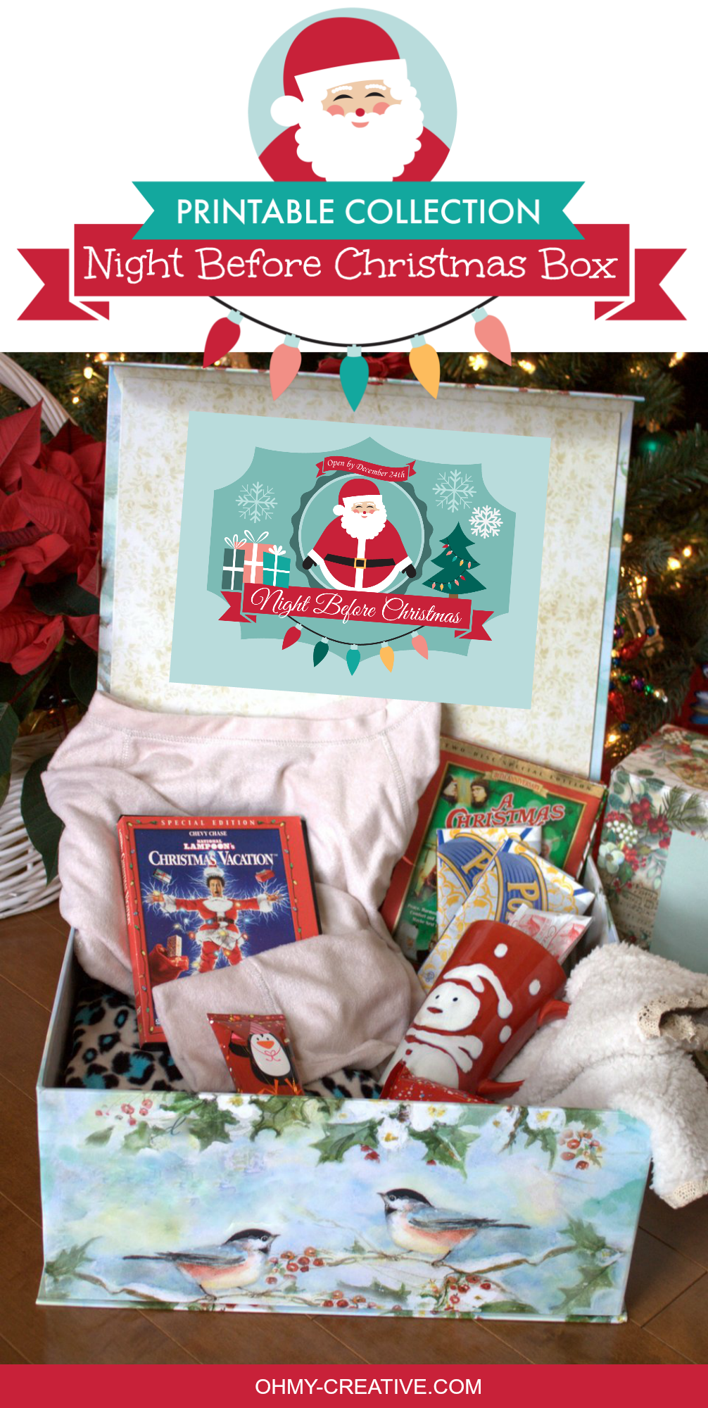 Night Before Christmas Box Printables - Oh My Creative