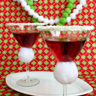 Santa Hat Martini – Pomegranate Martini