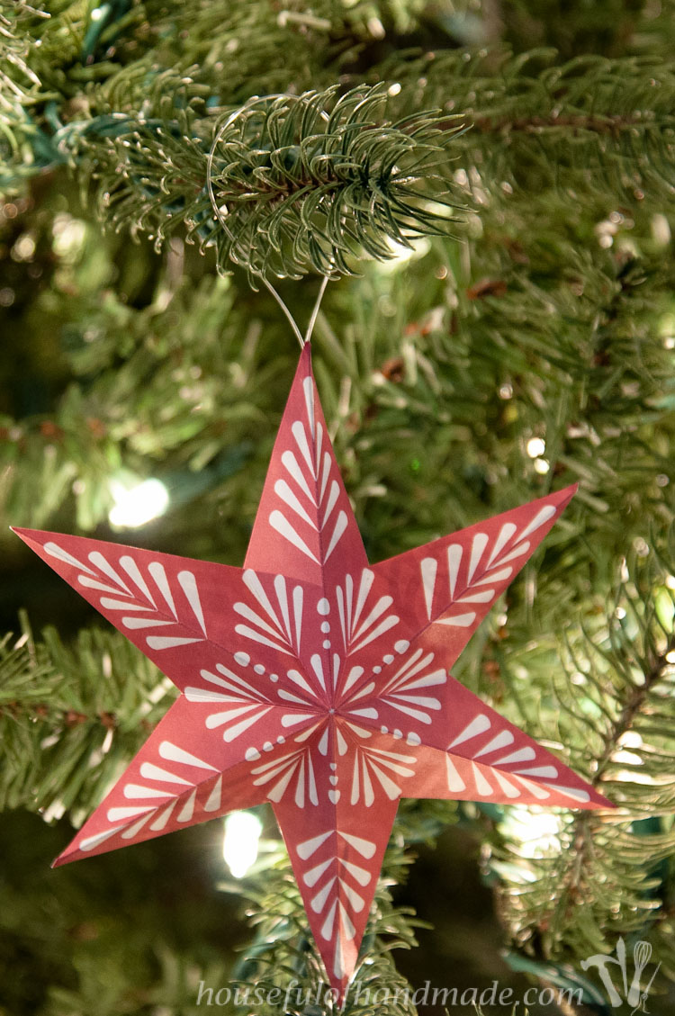 Printable d snowflake star ornaments oh my creative