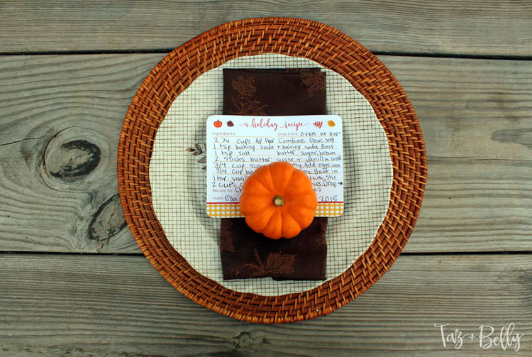 Thanksgiving Recipe Cards Printables | Printable Recipe Cards | Recipe Card Template | Recipe Template | Thanksgiving Recipe |  OHMY-CREATIVE.COM