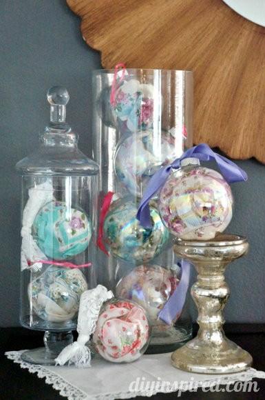 Vintage Handkerchief Christmas Ornaments