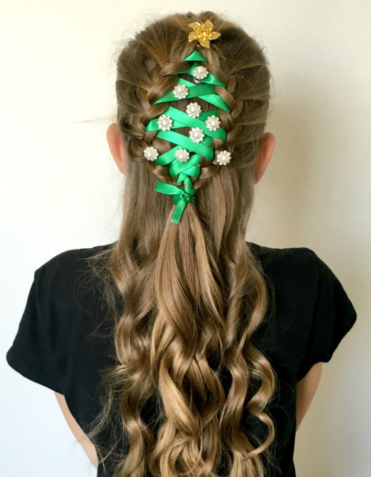 Christmas Tree Braid Oh My Creative