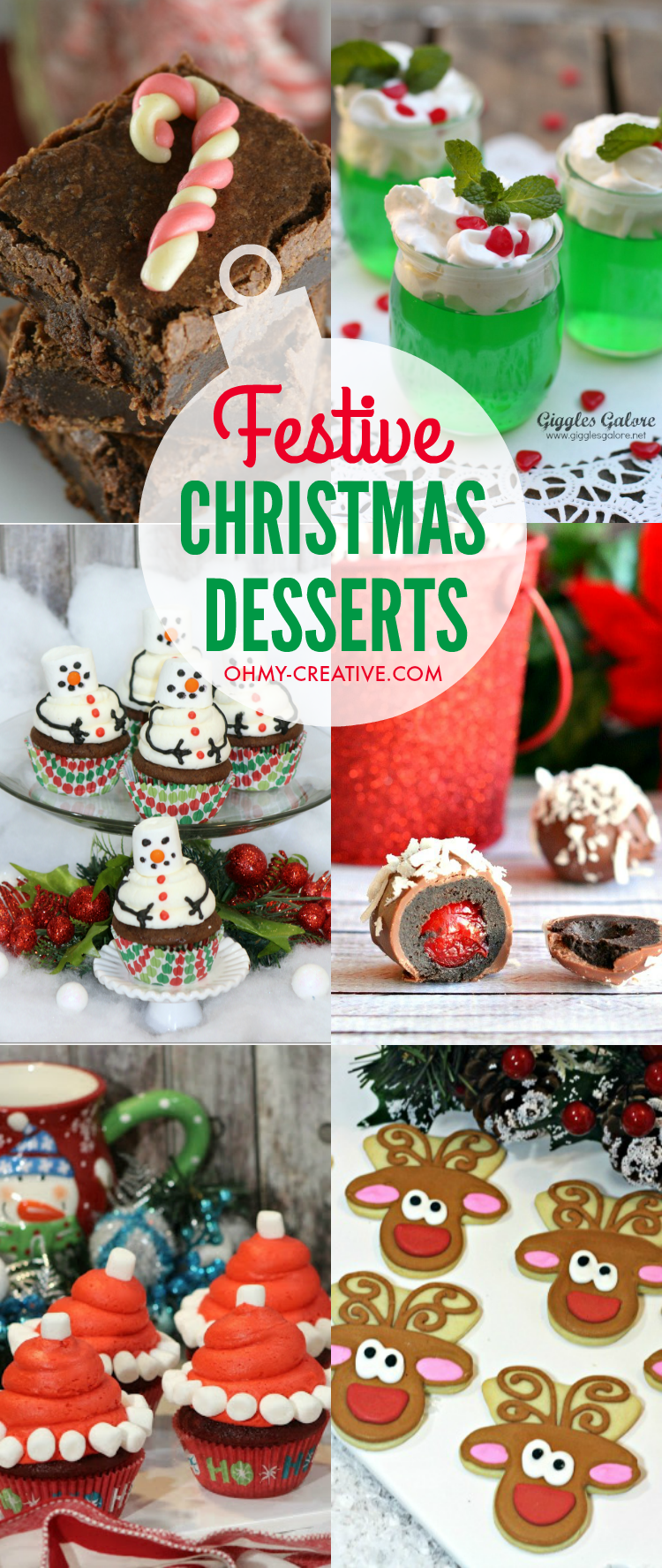 Christmas Dessert Ideas For Parties Part - 35: These Festive Christmas Desserts Are Perfect For Christmas Get-togethers  And Parties With Family And · Easy Snowman Cupcakes