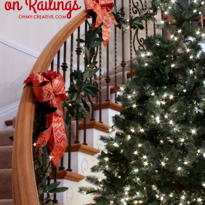How To Hang Garland On Staircase Banisters