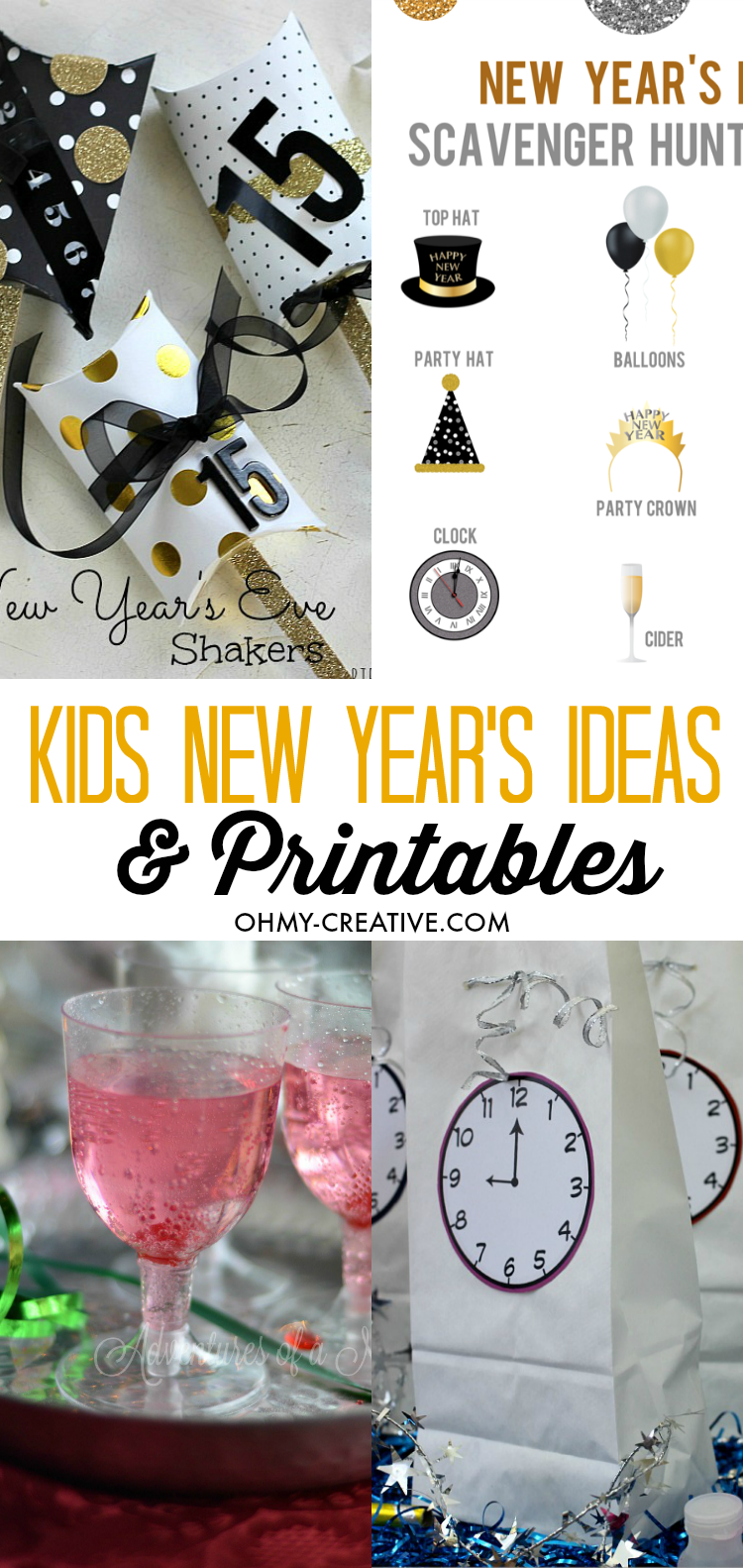 Kids New Year's Eve Ideas And Printables