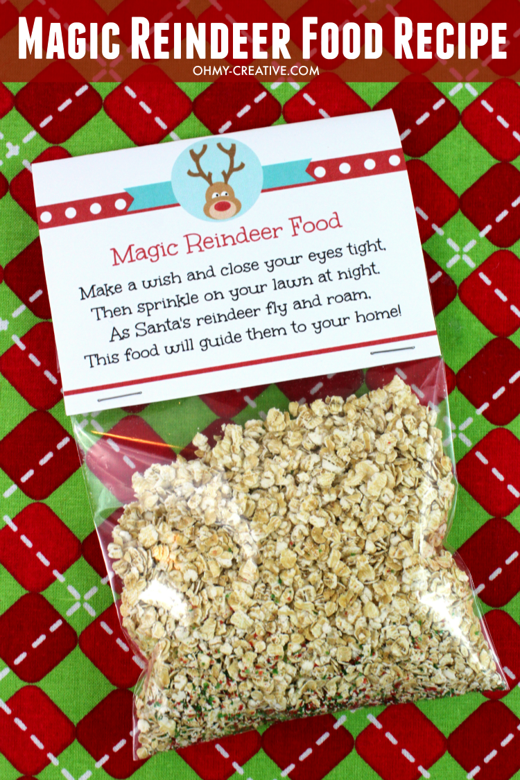 Magic Reindeer Food Recipe and Printable  Oh My Creative