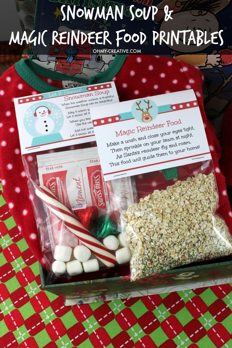 Snowman Soup & Magic Reindeer Food Printables | OHMY-CREATIVE.COM