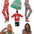 Be hot, hip and hilarious with these Ugly Christmas Sweater Party Looks from head to toe! Fun accessories too! | OHMY-CREATIVE.COM