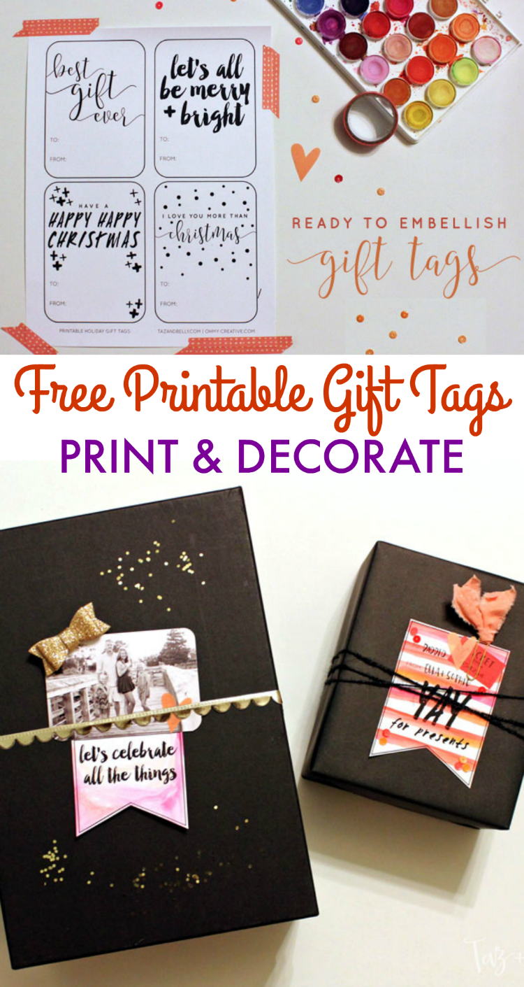 these free printable gift tags are a blank slate use watercolors glitter and sparkly