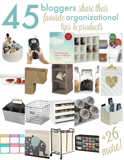 Bloggers 45 Best Organizing Solutions + Cash Giveaway
