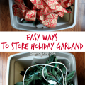 You will love these Easy Ways to Store Holiday Garland that make it simple to put back up for next year! | OHMY-CREATIVE.COM