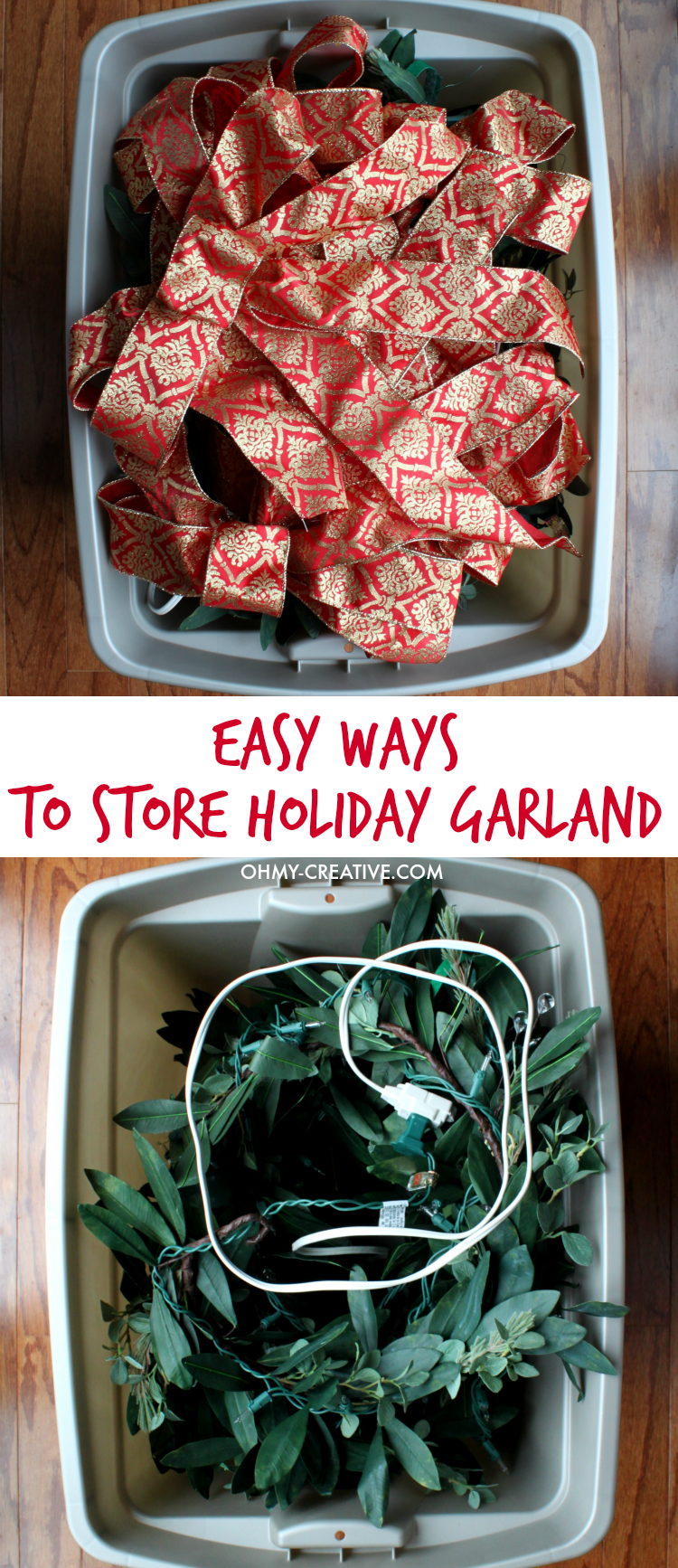 Easy Ways To Store Holiday Garland