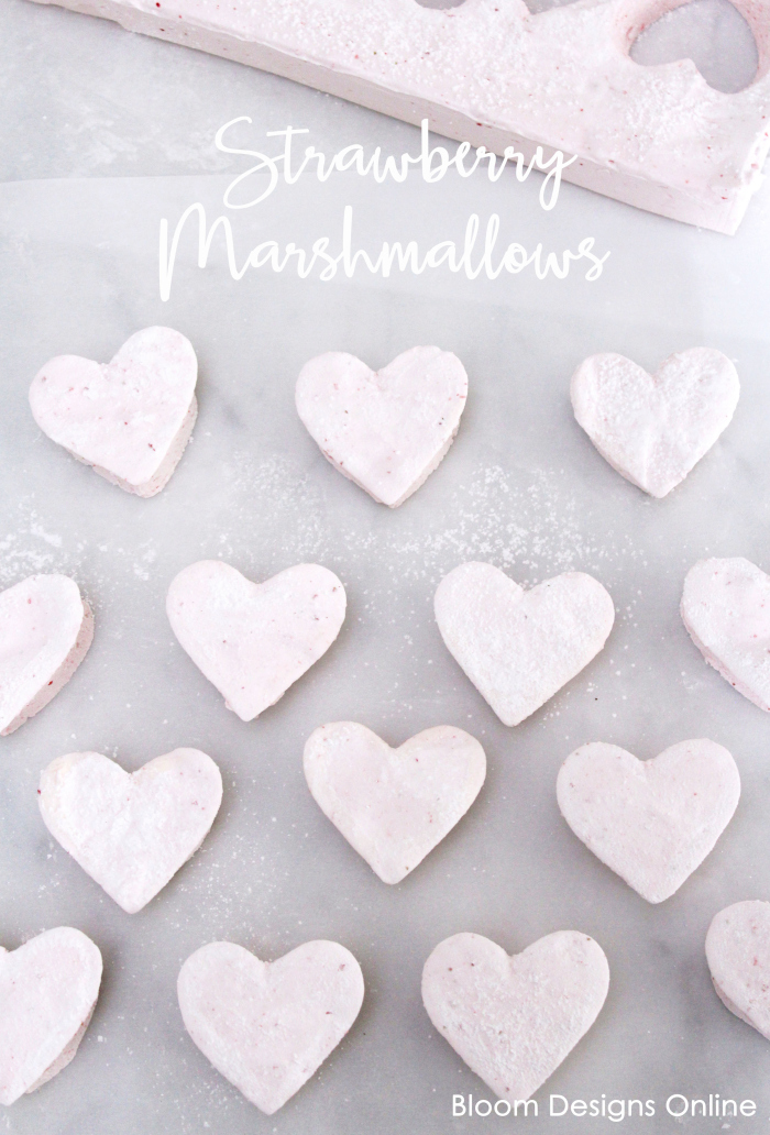 Homemade Strawberry Marshmallows | Bloom Designs Online