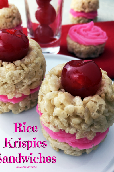 Valentine's Day Recipe For Rice Krispie Treat Sandwiches