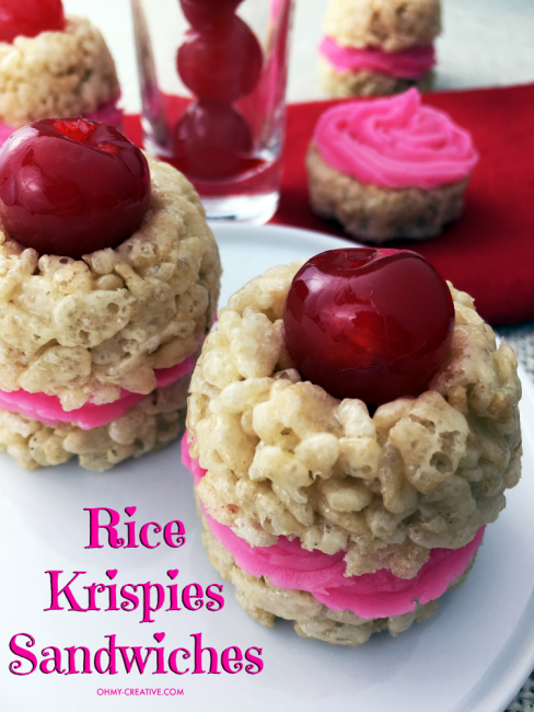 Valentine's Day Recipe For Rice Krispie Treat Sandwiches
