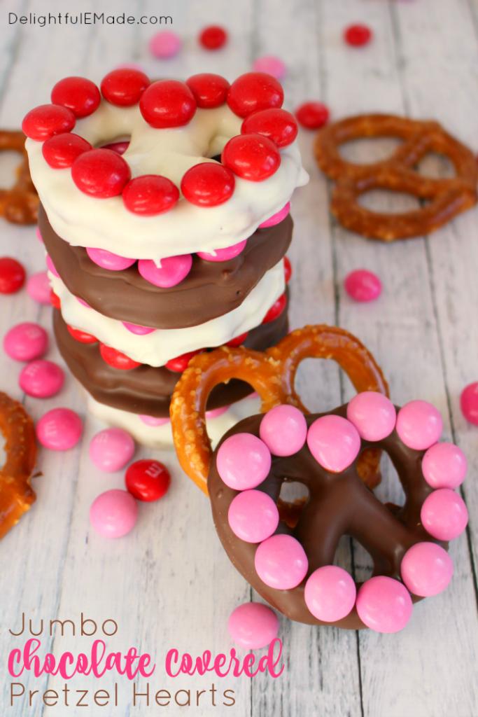Jumbo Chocolate Covered Pretzel Hearts