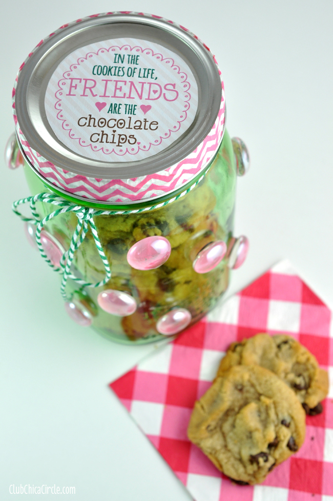 Mason Jar Cookie Jar Gift Idea