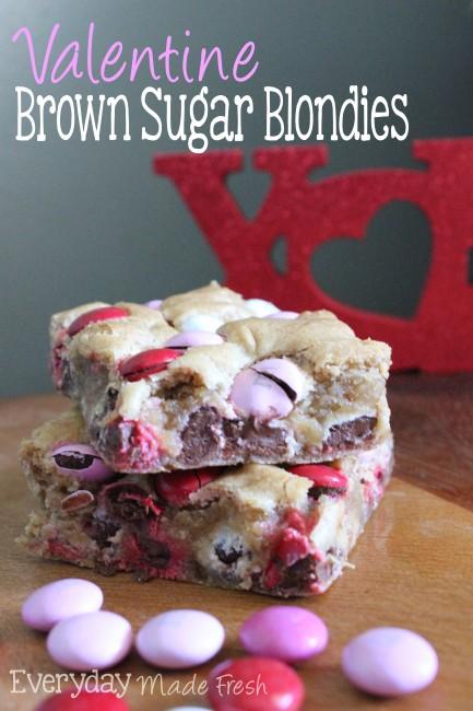 Valentine Brown Sugar Blondies