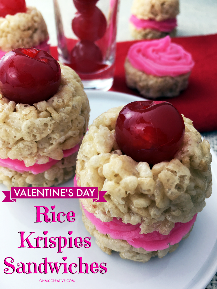 Valentineu0027s Day Rice Krispie Treat Sandwiches   Easy To Make And Sweet To  Eat! |