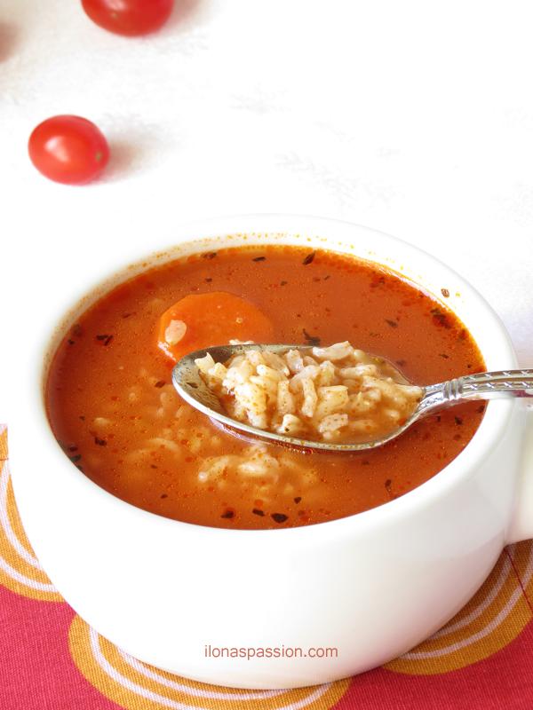 Brown Rice Tomato Soup Recipe