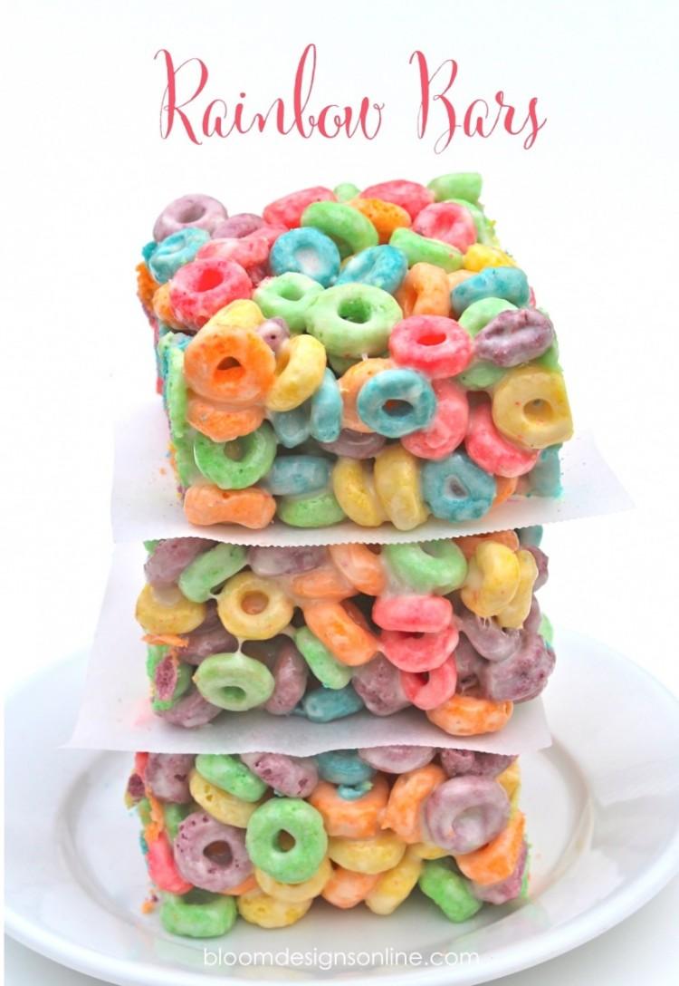 Fruity Rainbow Crispy Treats