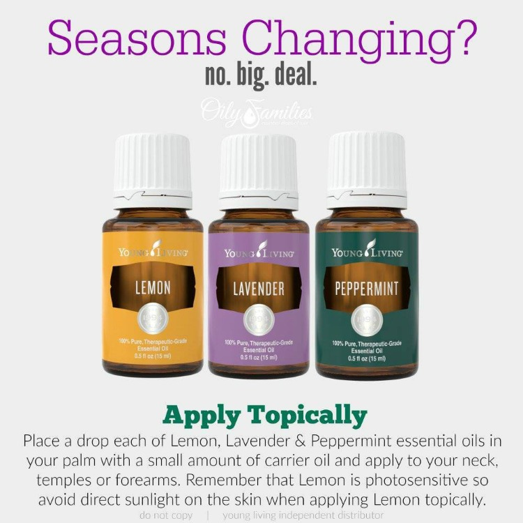 How To Use Essential Oils For Seasonal Challenges Oh My