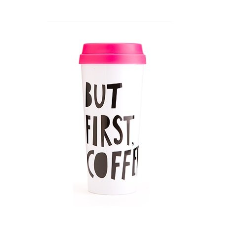 Ban.do Hot Stuff Thermal Mug, But First Coffe - Graduation Gifts for Her | OHMY-CREATIVE.COM