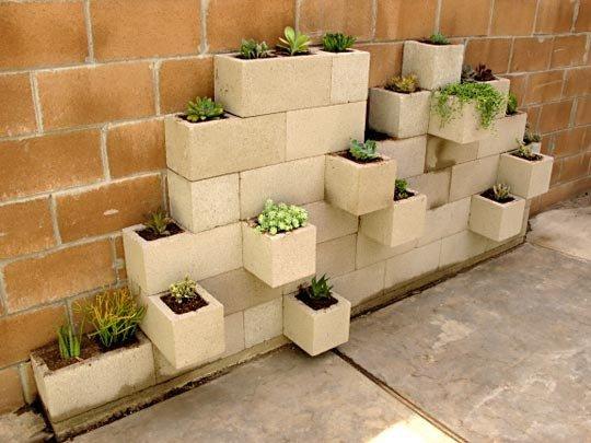 DIY Cinderblock Planters