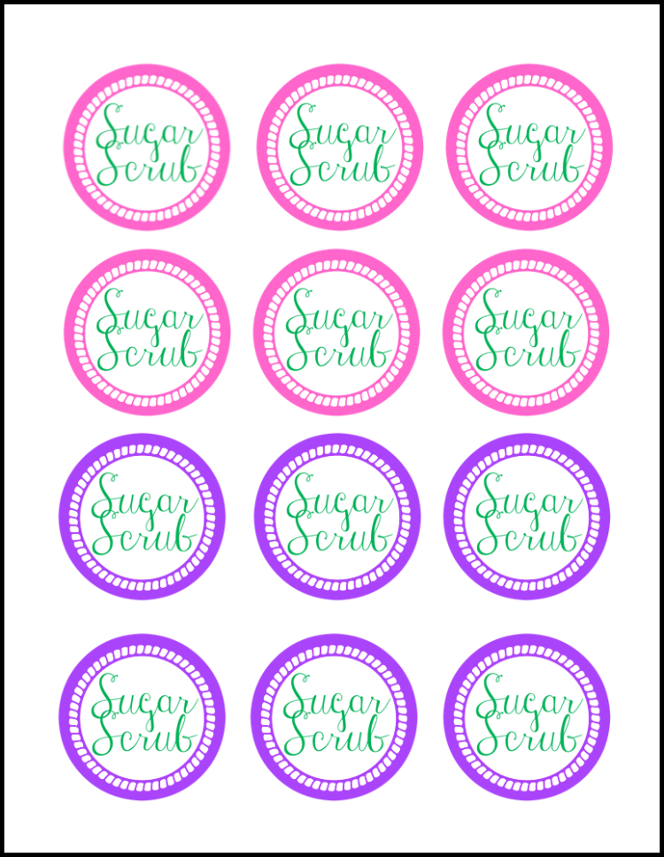 Free Printable Handmade Sugar Scrub Tags OHMY-CREATIVE.COM