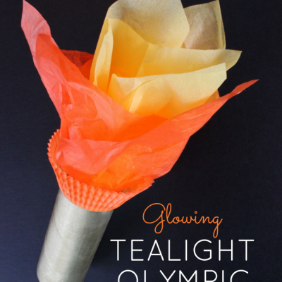Glowing TeaLight Olympic Torch – It Lights Up!