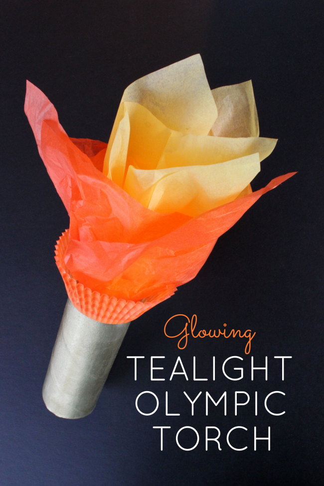 Glowing TeaLight Olympic Torch It Lights Up Oh My