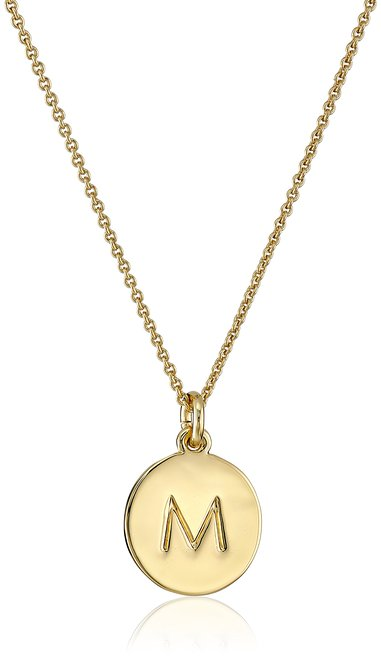 "Kate Spade New York Gold-Tone Alphabet Pendant Necklace 18"" - Senior Graduation Gifts for Her | OHMY-CREATIVE.COM"