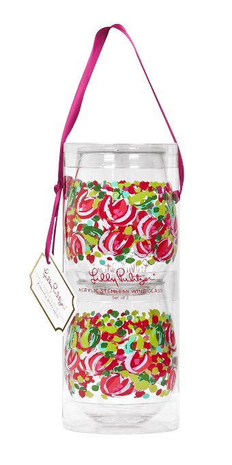 Lilly Pulitzer Wild Confetti Stemless Acrylic Wine Glasses - Don't know what to get for mom this Mother's Day? Here are a few Pretty Gifts For Mom on Mother's Day she will love! | OHMY-CREATIVE.COM
