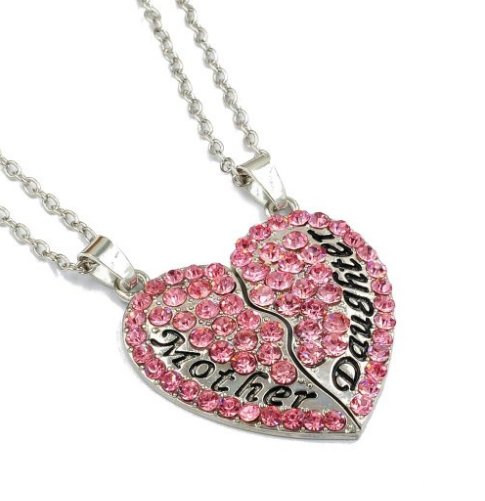OliaDesign® Mother Daughter Pendant Necklace - Don't know what to get for mom this Mother's Day? Here are a few Pretty Gifts For Mom on Mother's Day she will love! | OHMY-CREATIVE.COM