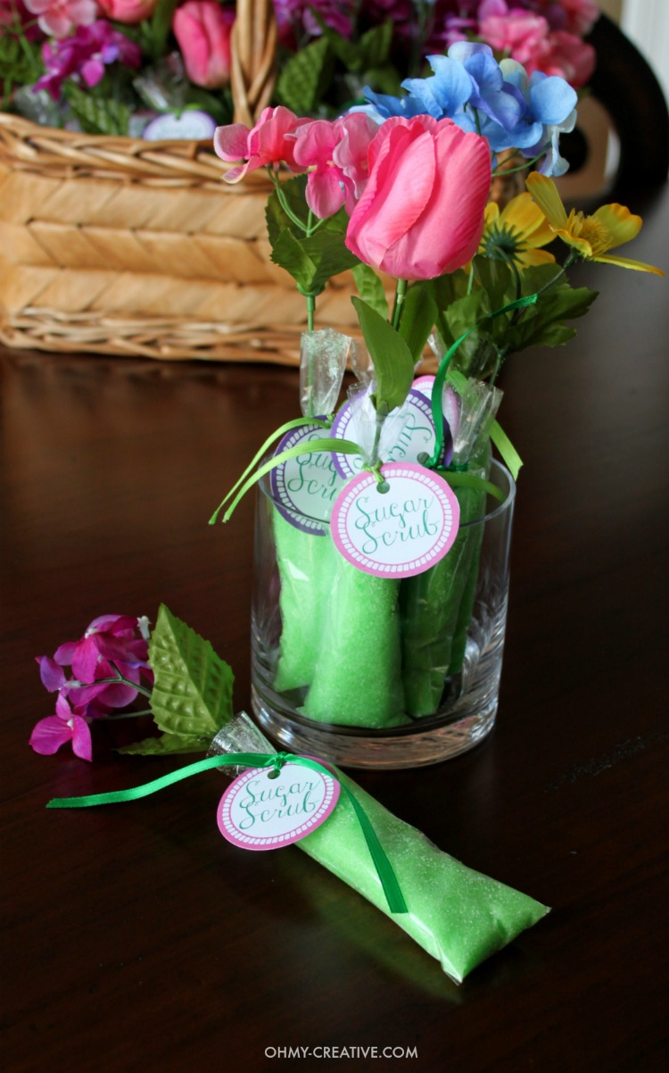 Homemade Sugar Scrub Shower Favors