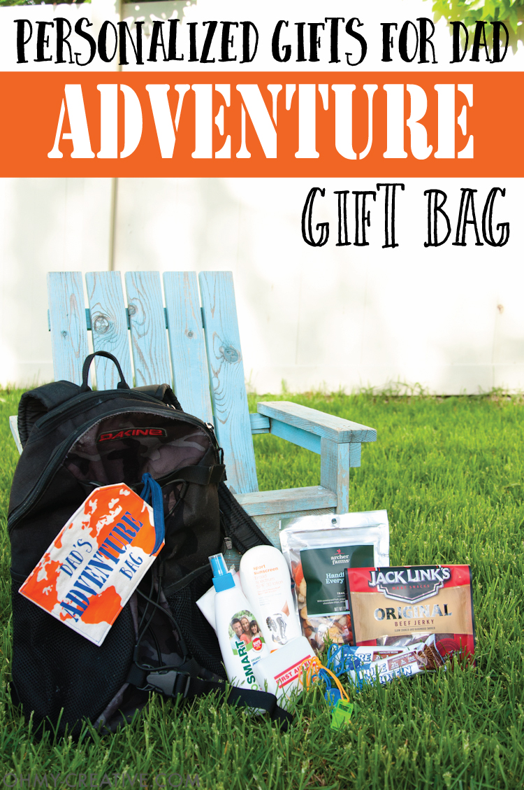 Personalized Gifts For Dad - Adventure Gift Bag