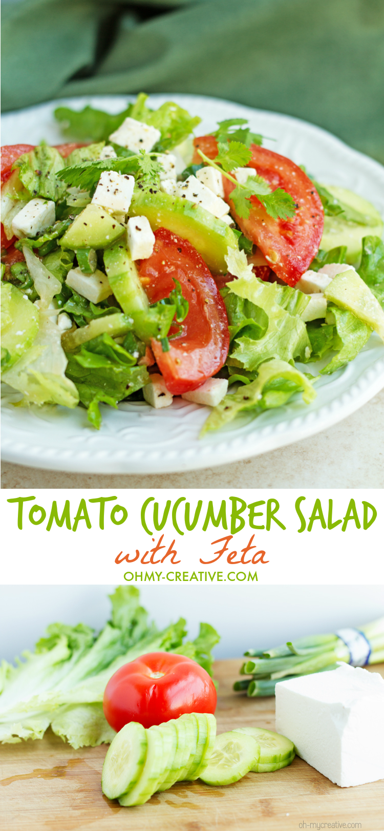 tomato cucumber salad with feta oh my creative. Black Bedroom Furniture Sets. Home Design Ideas