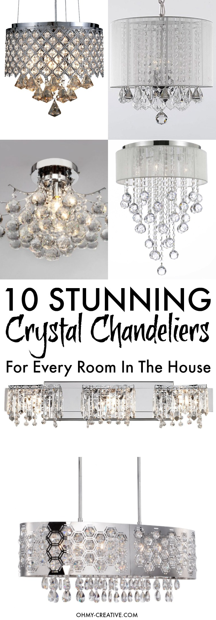 Stunning Crystal Chandelier Lights Oh My Creative - Chandelier lights for bedrooms